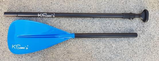 Aluminium Stand Up Paddel SUP 3-teilig Blau glänzend längenverstellbar 175-220 cm KSamoa KSamo`a ®