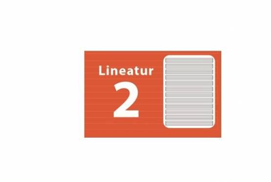 Deutschheft Schreibheft  A4 Lineatur 2 Schreiblernheft Lin 2 Heft 2 Klasse L2