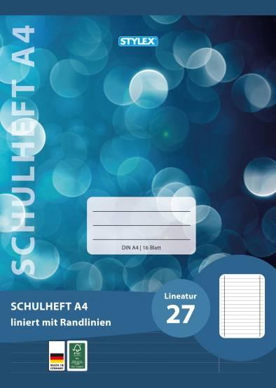 Deutschheft Schreibheft  A4 Lineatur 27 Schreiblernheft Lin27 Heft ab 3 oder 4  Klasse