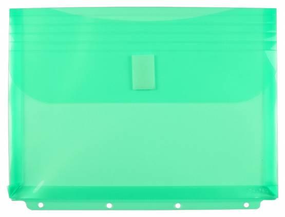 Dokumententaschen A4 Querformat mit Klettverschluss Grün Aufbewahrungstasche