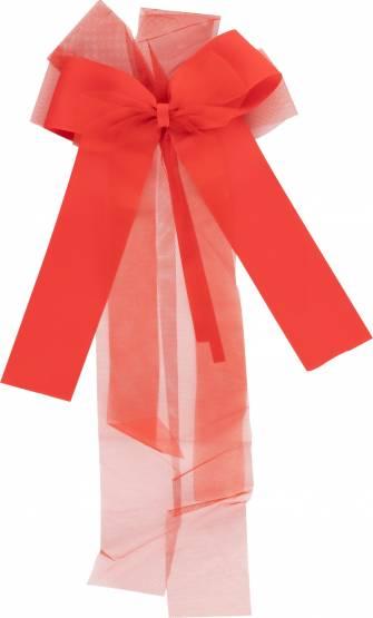 Schleife Dekoschleife Schultütenschleife Schultüte Zuckertüte Stylex 50x25cm XXL Rot