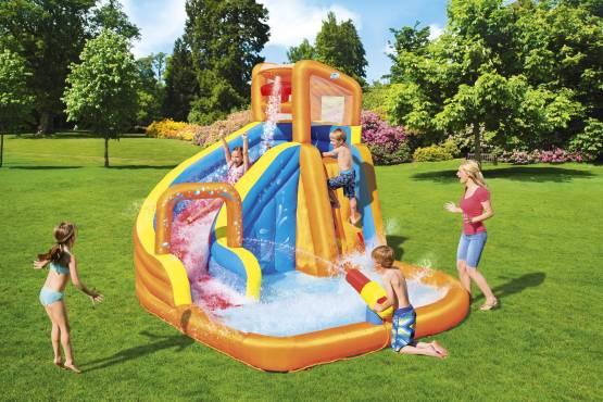 Bestway Wasserpark Super mit Dauergebläse Aufblasbar 365x320x270 cm H2OGO Planschbecken 53301