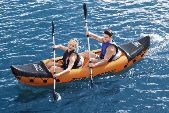 Bestway 65077 Hydro-Force Kajak Set Lite-Rapid X2 Aufblasbar Boot 2 Personen