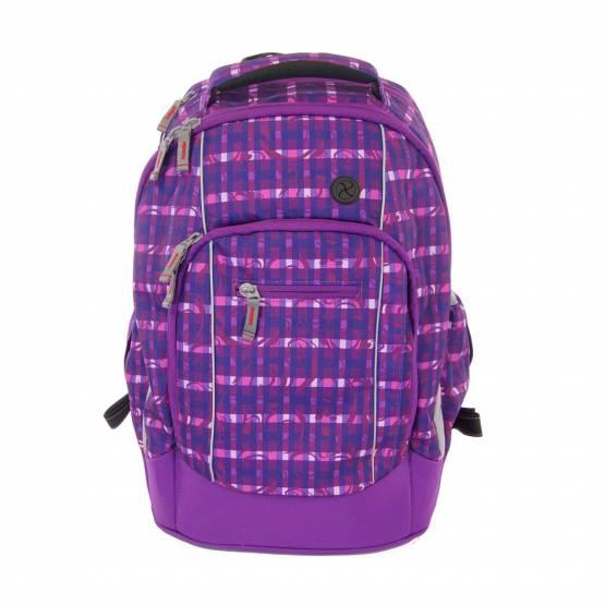 Schulrucksack Schulranzen Syderf von School Mood Rucksack Vancouver Lilac Check Schultasche