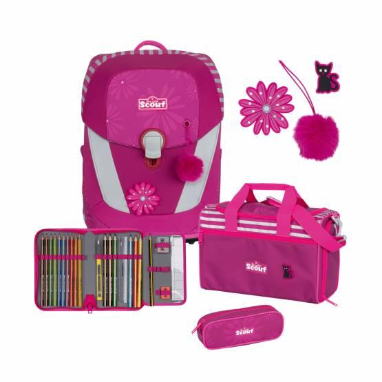 Scout Sunny II Schulranzen Set 4-tlg. Pretty Pink