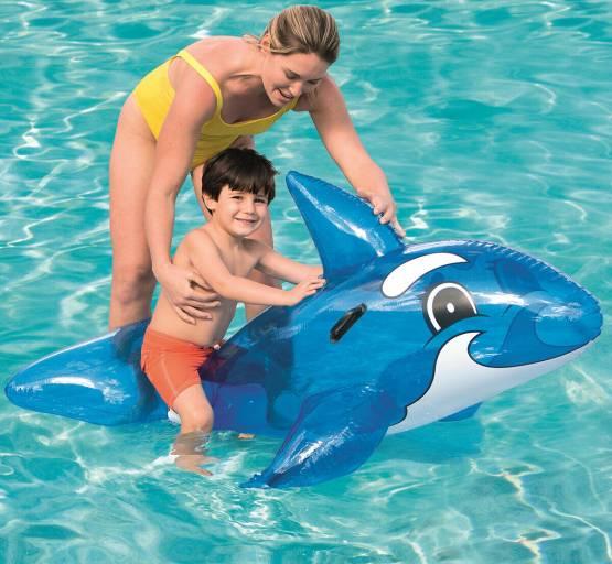Aufblasbarer Wal Badetier Schwimmtier 157 x 94 Luftmatratze Badeinsel Bestway