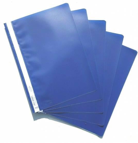 Schnellhefter DIN A4 PP Qualität Blau Hefter Kunststoff 5 Stück Stylex