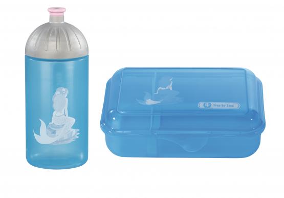 Step by Step Trinkflasche Lunchbox Brotdose Brotbüchse Mermaid Set