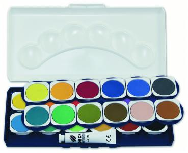 Deckfarbkasten Farbkasten Tuschkasten  Paintbox 24er
