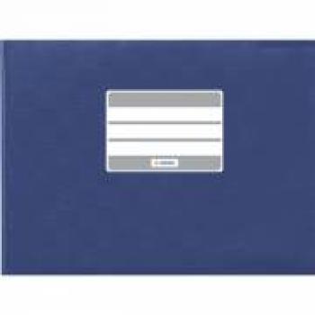 Heftumschlag A5 Blau Quer Umschlag für Brunnen und Qxford