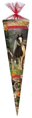 Nestler Schultüte Pferd 85 cm Zuckertüte 6 eckig