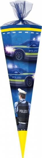 Schultüte Zuckertüte 85 cm eckig Polizei
