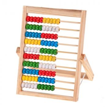 Rechenschieber Rechenrahmen Abakus Abacus Holz Zählrahmen Rechenhilfe 100 er