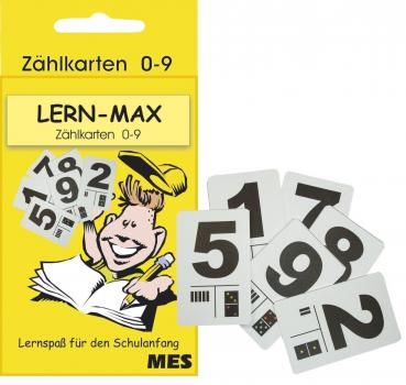 Zählkarten Zahlenkarten 0-9 ca 8-10 cm groß