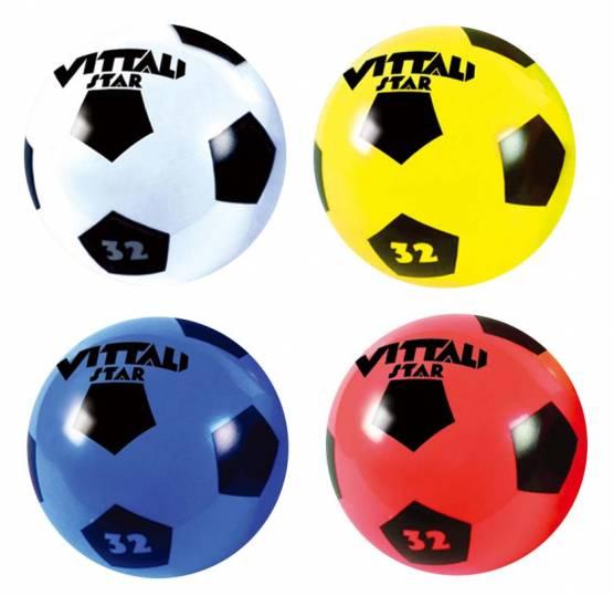 Wasserball PVC Ball Fussball Kinder-Spielball Strandball Beachball 4 Stück 22 cm