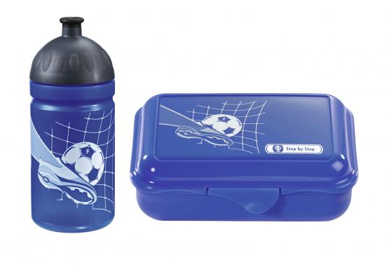 Step by Step Trinkflasche Lunchbox Brotdose Brotbüchse Soccer Team Set
