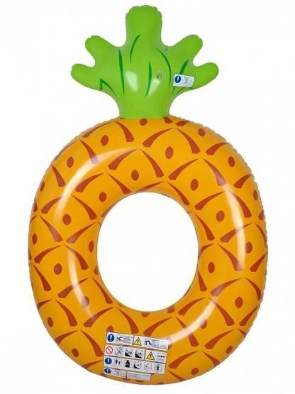 Schwimmring XXL 160 Ananas Schwimmreifen Luftmatratze Schwimmhilfe Wasserliege