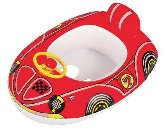 Schlauchboot Schwimmboot Kinderboot Schwimmring Badeboot Hupe Schwimmsafe ROT