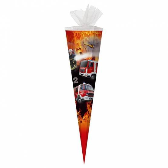 Schultüte Zuckertüte 85 cm eckig Feuerwehr