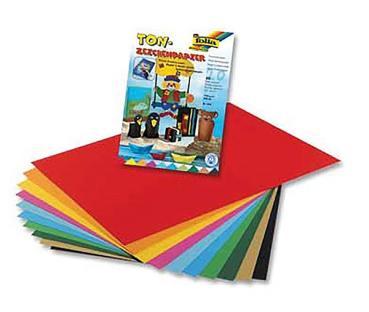 Tonzeichenpapier Tonpapier A4 Bastelpapier