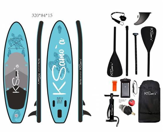 Stand Up, SUP, KSamo`a, PREMIUM, SET, 320 Paddle Board, Surf, ISUP, Paddling, Ksamoa, Bluerider