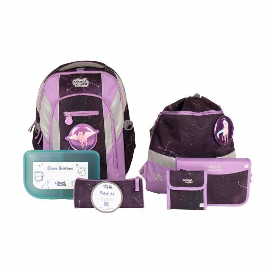 School Mood Loop Air+ Stella Einhorn 7-teiliges Set Schulrucksack Modell 2021